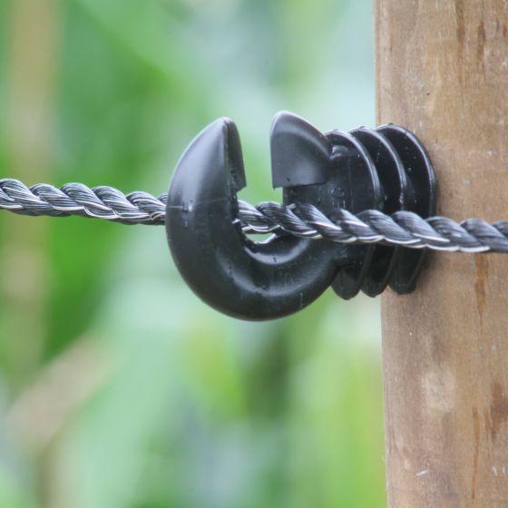 Corde noir solide 6 mm