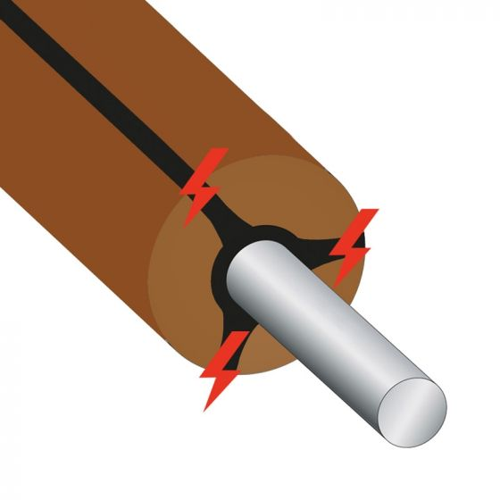 Long Life Cable, brun 300 m
