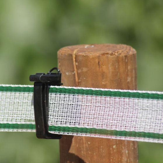 Ruban, 40 mm bl/vert 200 m
