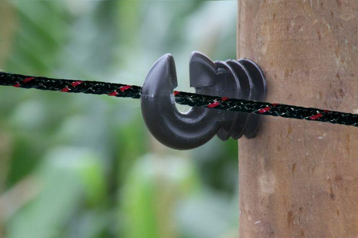 Corde braided noir 6 mm